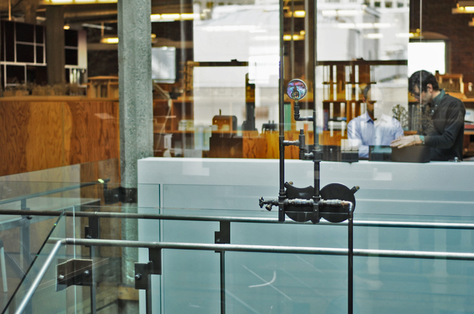 A view from the conference room to the open floor plan of the Olson Kundig Architects offices.