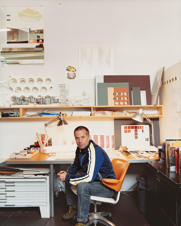Architect Thom Faulders inside his Berkeley studio.