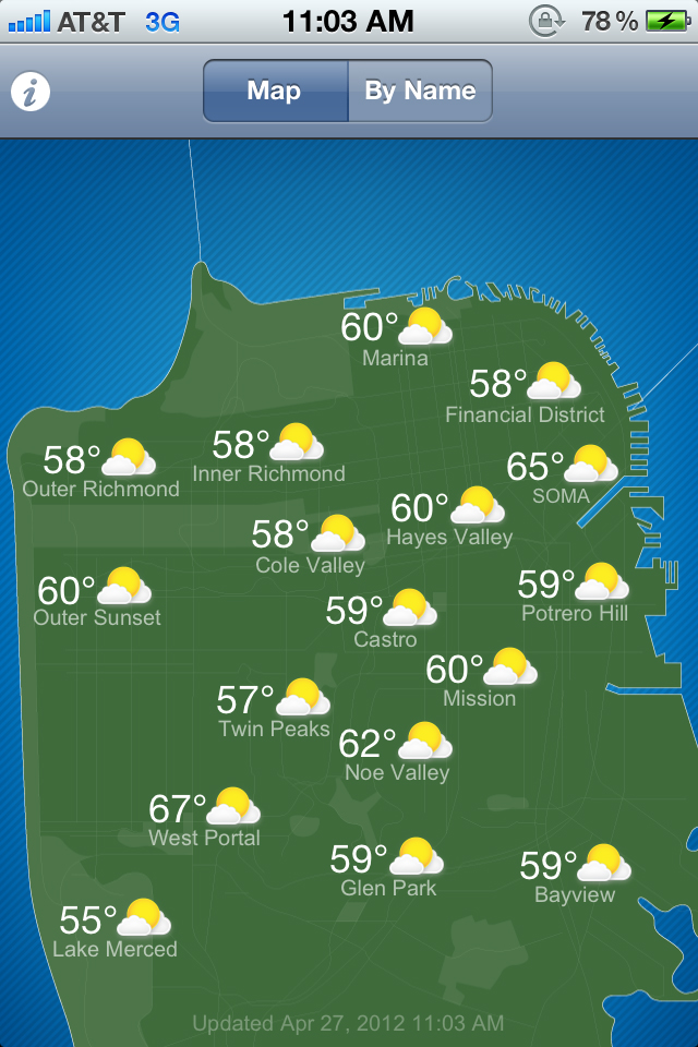 The S.F. Climates app tackles the weather variations in the City by the Bay.