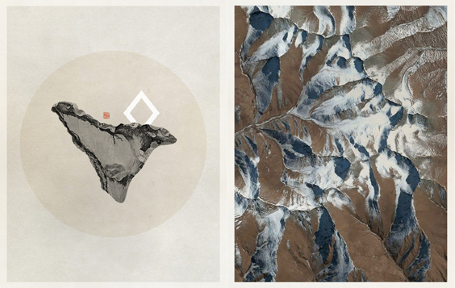 Artist Ling Meng studies natural, mathematical, and scientific themes in her work.
