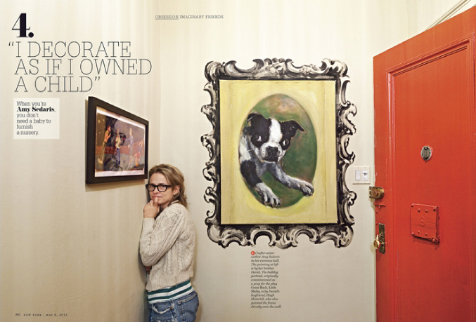Comedienne Amy Sedaris is her apartment, shot by Dean Kauffman.