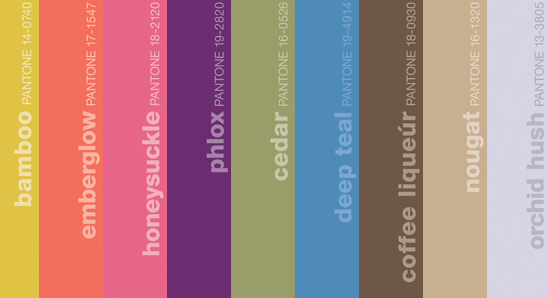 Pantone just released their lineup of fall colors.