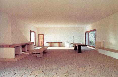 Inside the Libera's Casa Malparte.