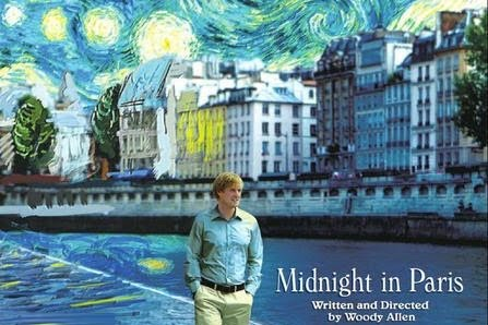 """Midnight in Paris"" is written and directed by Woody Allen and stars Owen Wilson, Marion Cotillard, and Rachel McAdams."