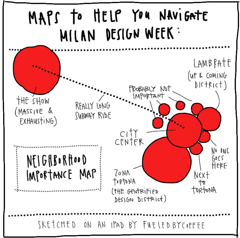 """Maps to Help you Navigate Milan Design Week"" by Craighton Berman."