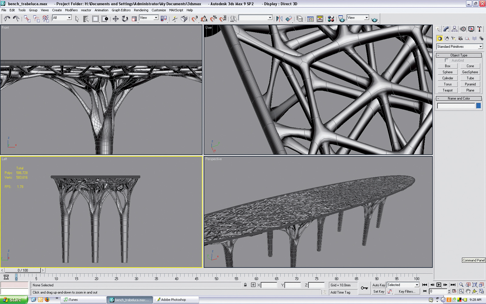 freedom of creation trabecula bench CAD software