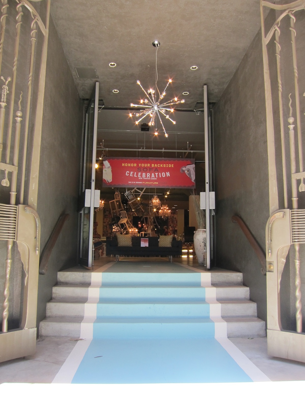 Here's the entrance to H.D. Buttercup, located in the former Limn space in SOMA in San Francisco.