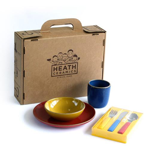 "Children's dinnerware set by <a href=""http://www.heathceramics.com/go/heath/homeware/store/index.cfm?catID=54#shop"">Heath Ceramics</a>, $135.00."