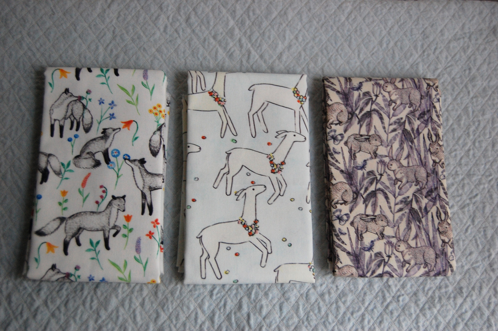 "Here's a selection of Sian's digitally printed fabrics, available for purchase <a href=""http://www.etsy.com/shop/sian"">here</a>."