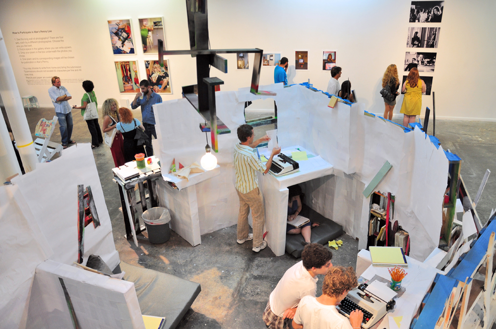ArtSeen Gallery in Miami hosts Abe's Penny Live. Photo by Robby Campbell