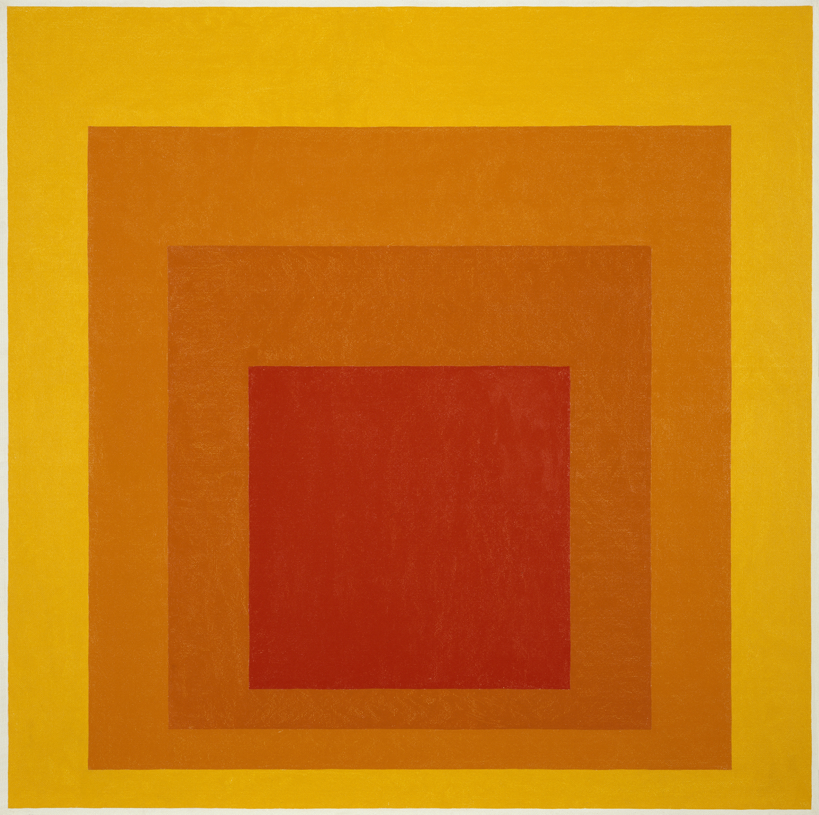 """Homage to the Square: Glow,"" 1966. Image courtesy Hirshhorn Museum and Sculpture."
