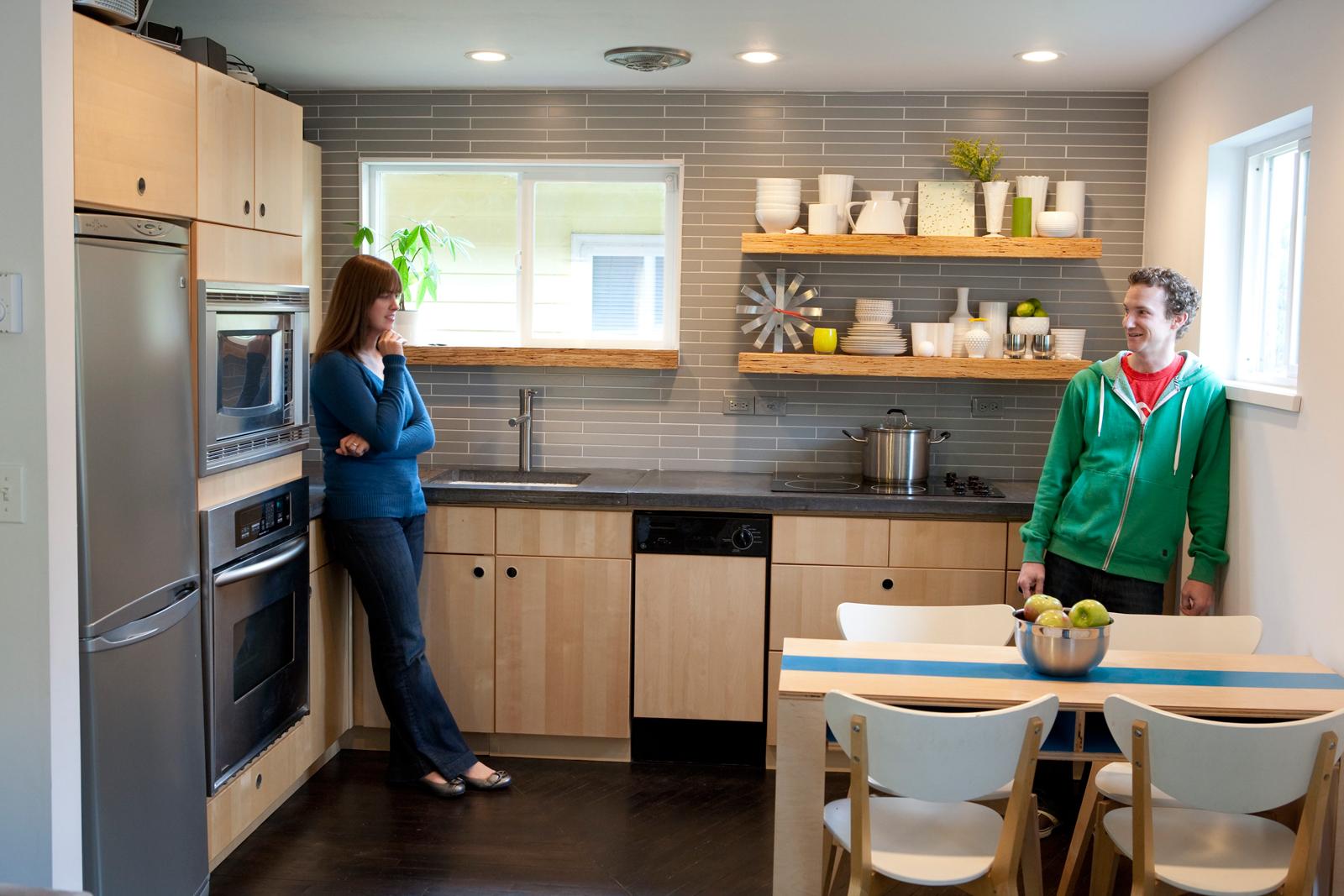 Linden residence kitchen portrait