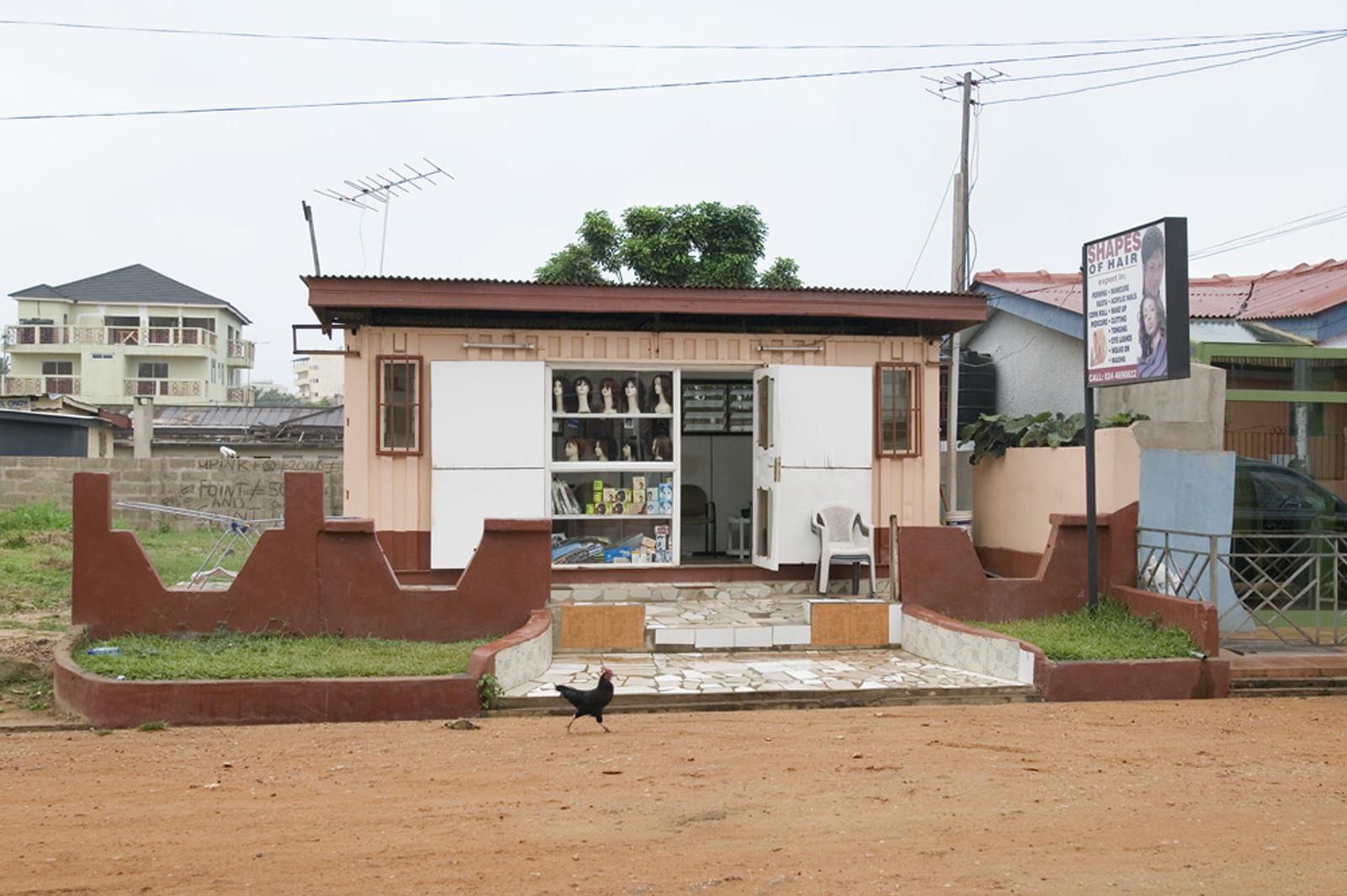 Beauty parlor, Osu, Accra.