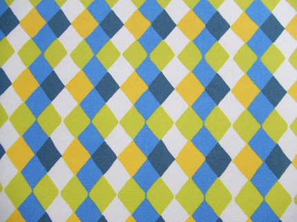 liz scott blue diamonds fabric