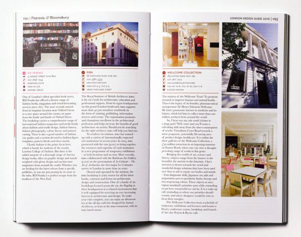 london design guide inside book