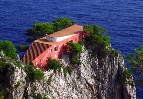 Casa Malparte was designed in the 1930s by Adalberto Libera.