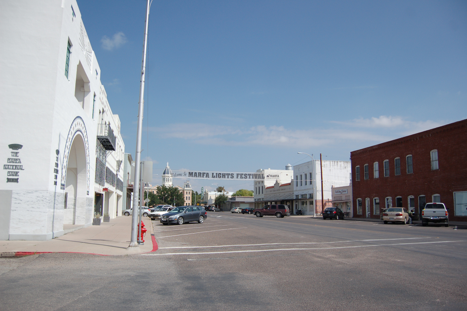 Downtown Marfa in all its glory. Amazingly, the entire town is comprised of just two square miles.