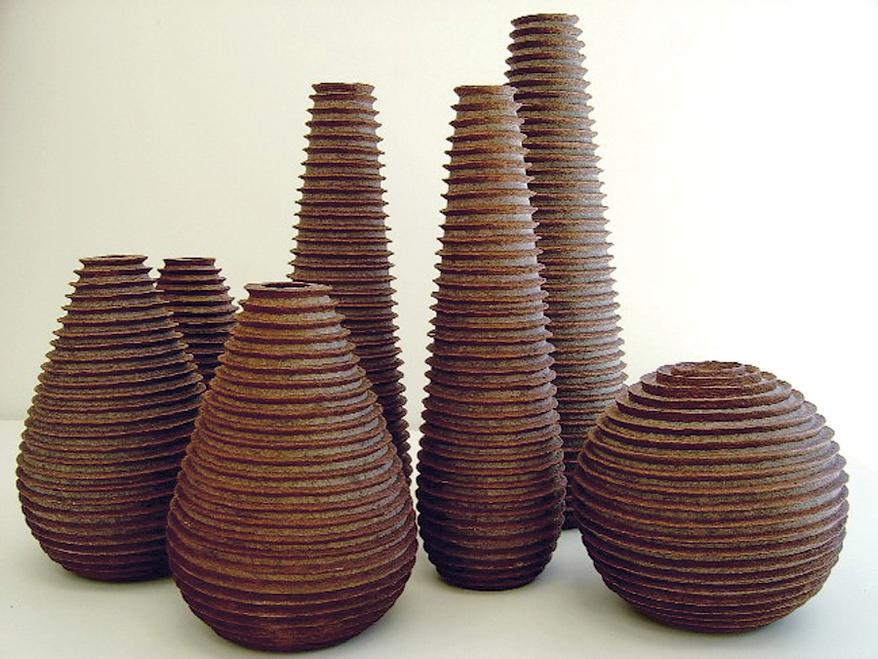 melo zoe vases brown