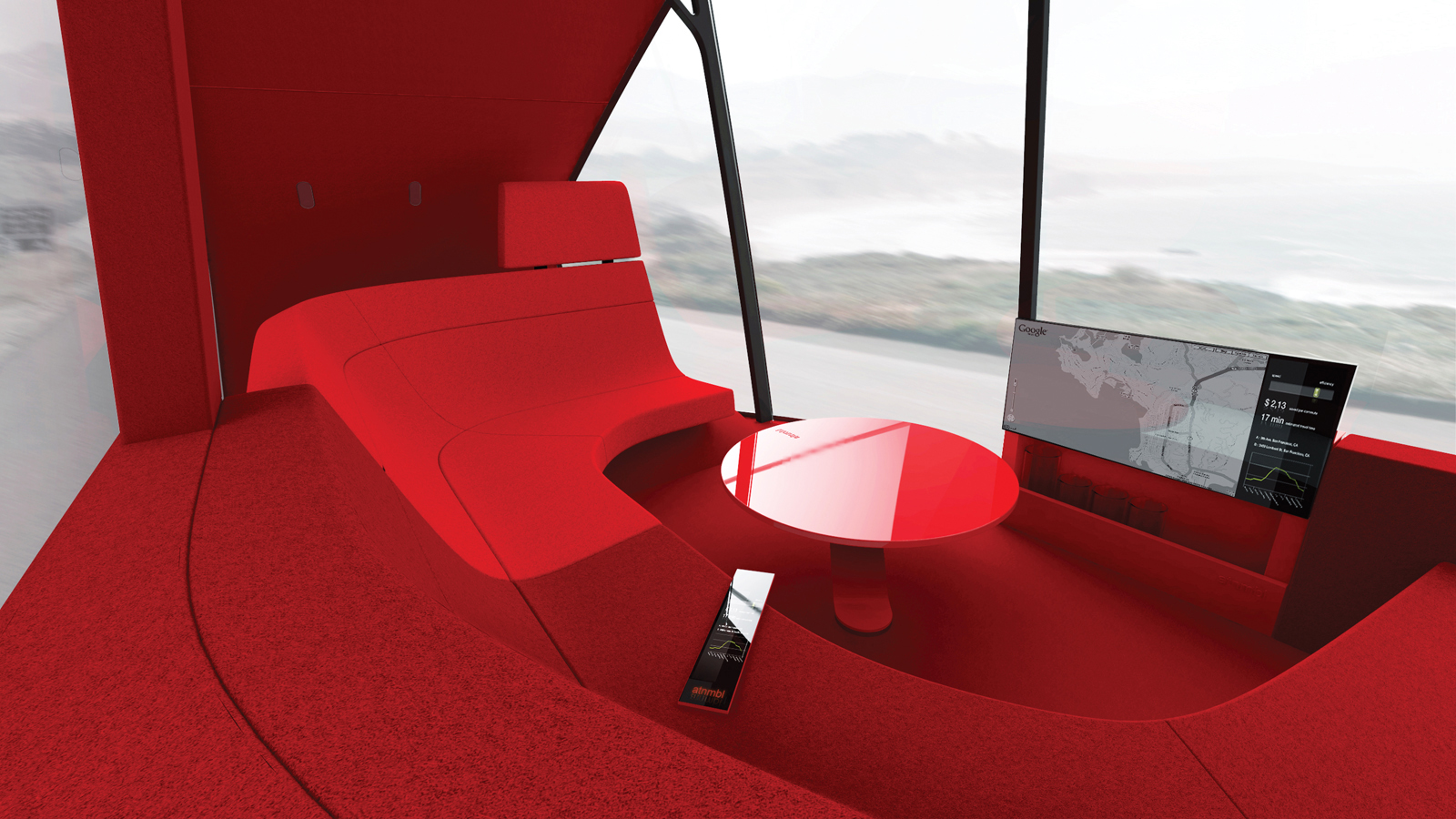 Mike and Maaike's design goes far beyond styling to create an entirely new concept for transportation—–including an operating system and living-room-like interior.