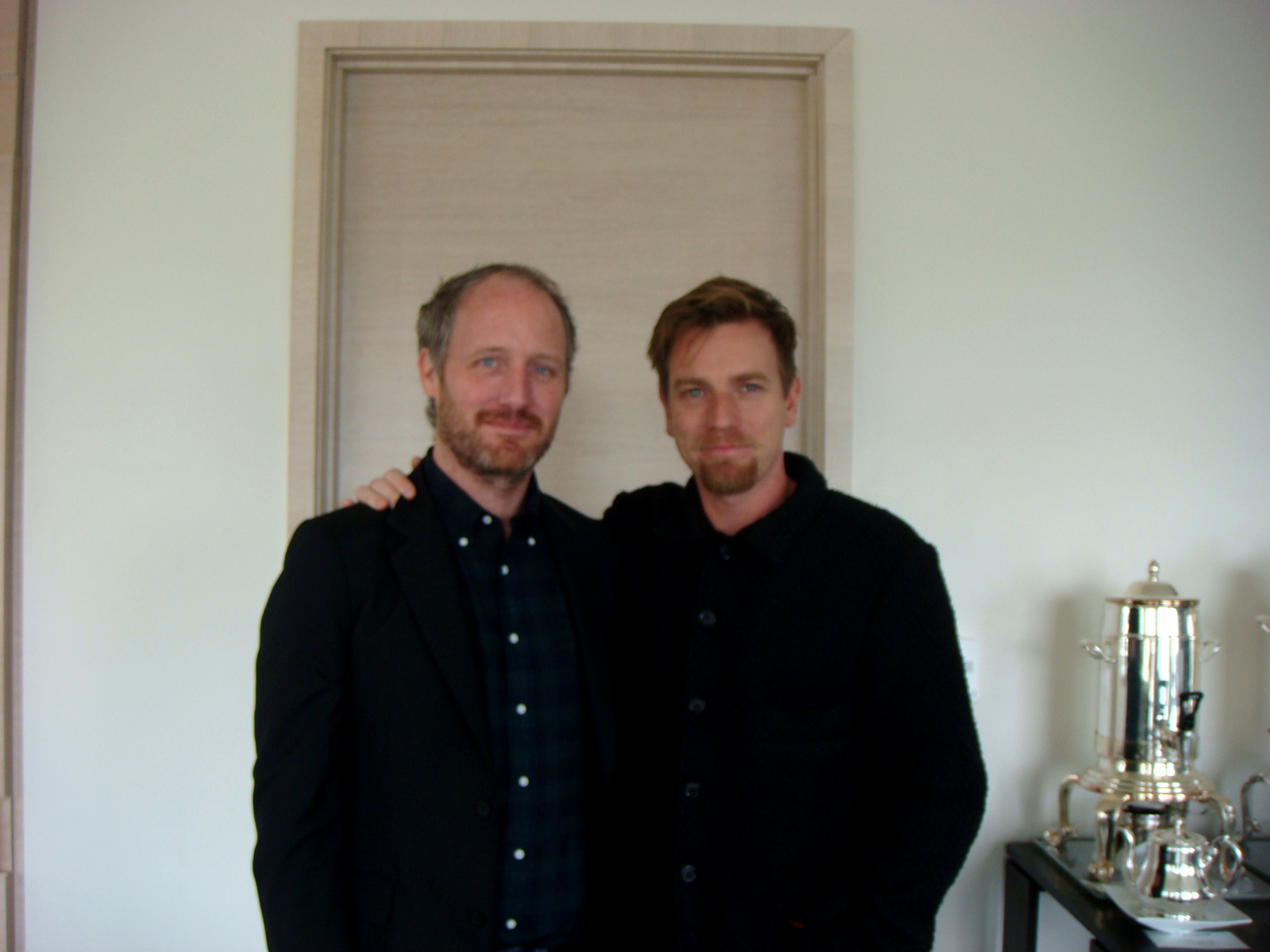 Mike Mills and Ewan McGregor at the St. Regis Hotel in San Francisco, where the interview took place.