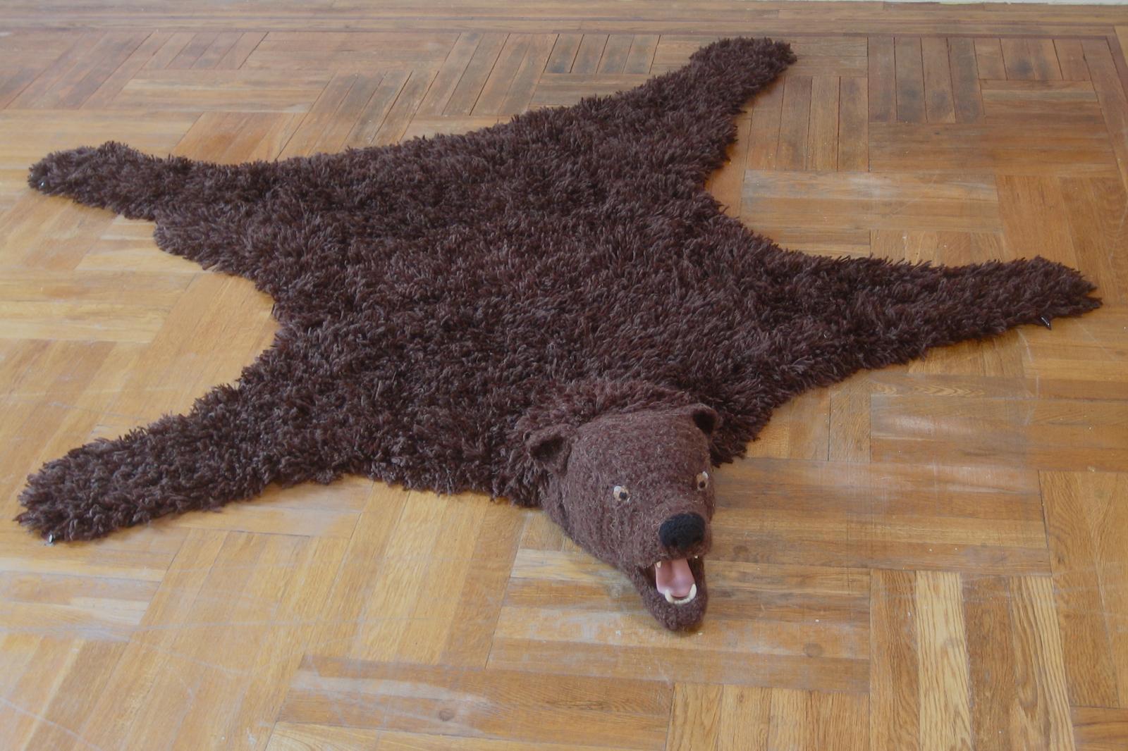 nathan vincent crochet Bear Rug