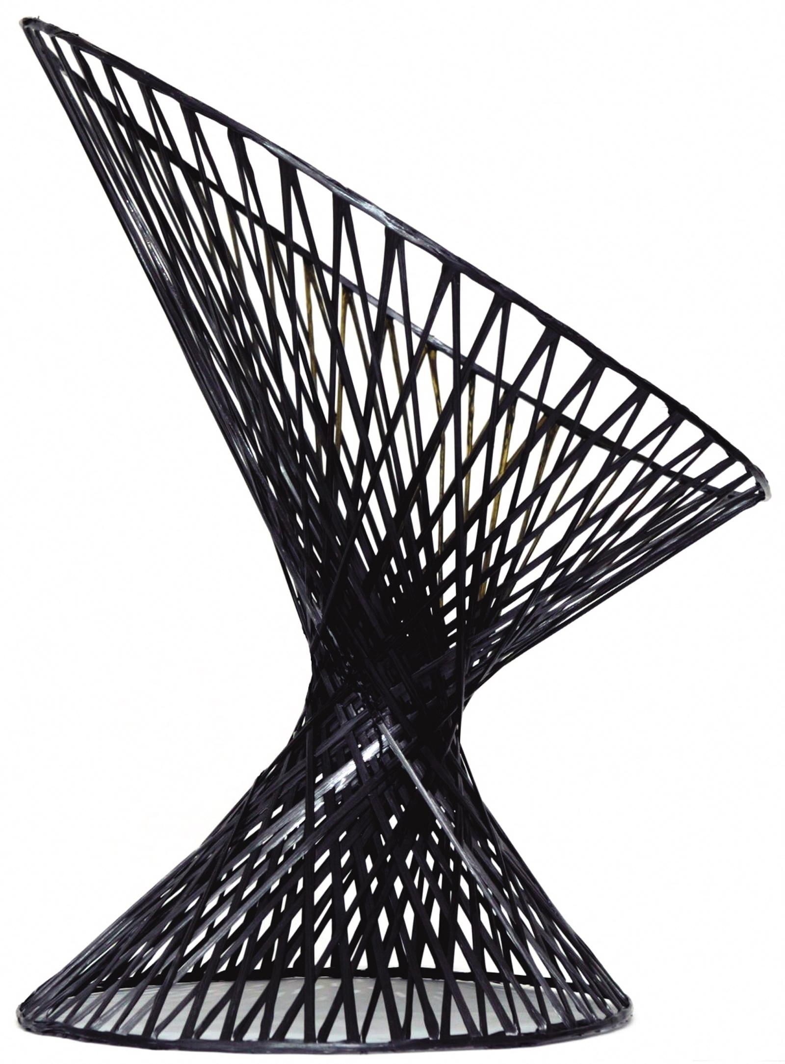 Carbon-fiber 'Spun Chair' by Mathias Bengtsson of Denmark, 2002. Photo by Jeppe Gudmundsen Holmgreen.