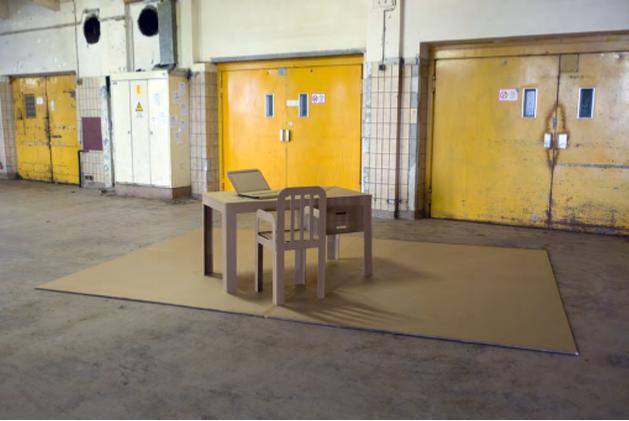 popup cardboard office1
