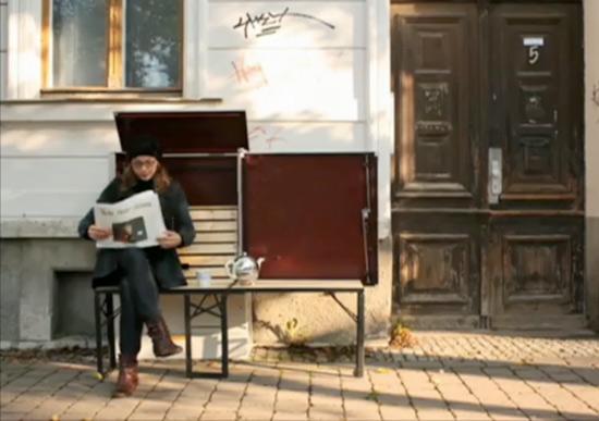 popup guerilla bench