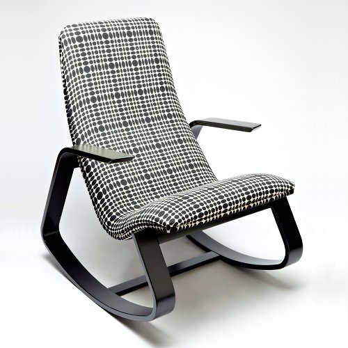 Modern Ralph Rapson chair with Verner Panton textiles