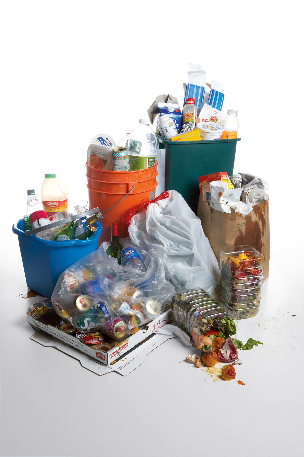 recylcing bins opening garbage image