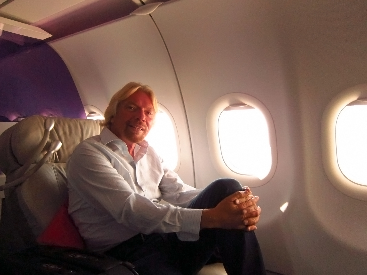 "Virgin's ""Pioneer in Chief"" Richard Branson sits down for a quick chat."