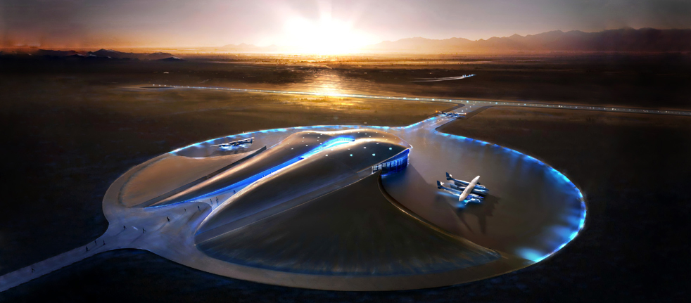Virgin Galactic's New Mexico Spaceport was designed by Foster+Partners and is now under construction.