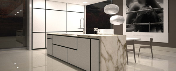 "<a href=""http://www.elam.it"">Elam</a> unveiled its new Opera Kitchen System, which is all about form and function. The modular system is completely customizable, leaving it to the individual to determine and design its function. (The materials, from lamin"