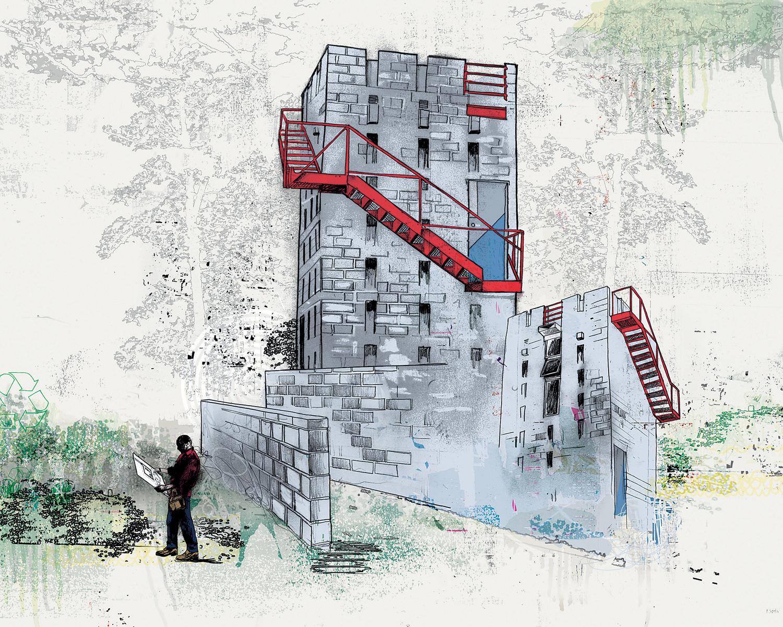 scott chambers red stair rgb