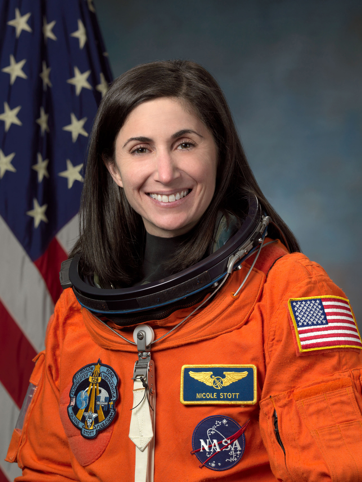 Astronaut Nicole Stott, mission specialist and flight engineer<br /><br />Courtesy of NASA