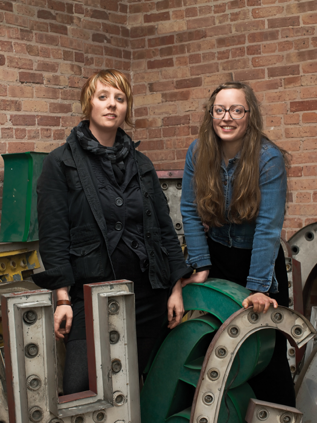 Katherine Raz (left) and Libby Alexander, founders of Vintage Bazaar, a pop-up flea market in Chicago.