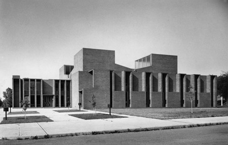 First Unitarian Church by Louis I. Khan in Rochester, New York. Image courtesy the Louis I. Kahn Collection, University of Pennsylvania Historical and Museum Commission.