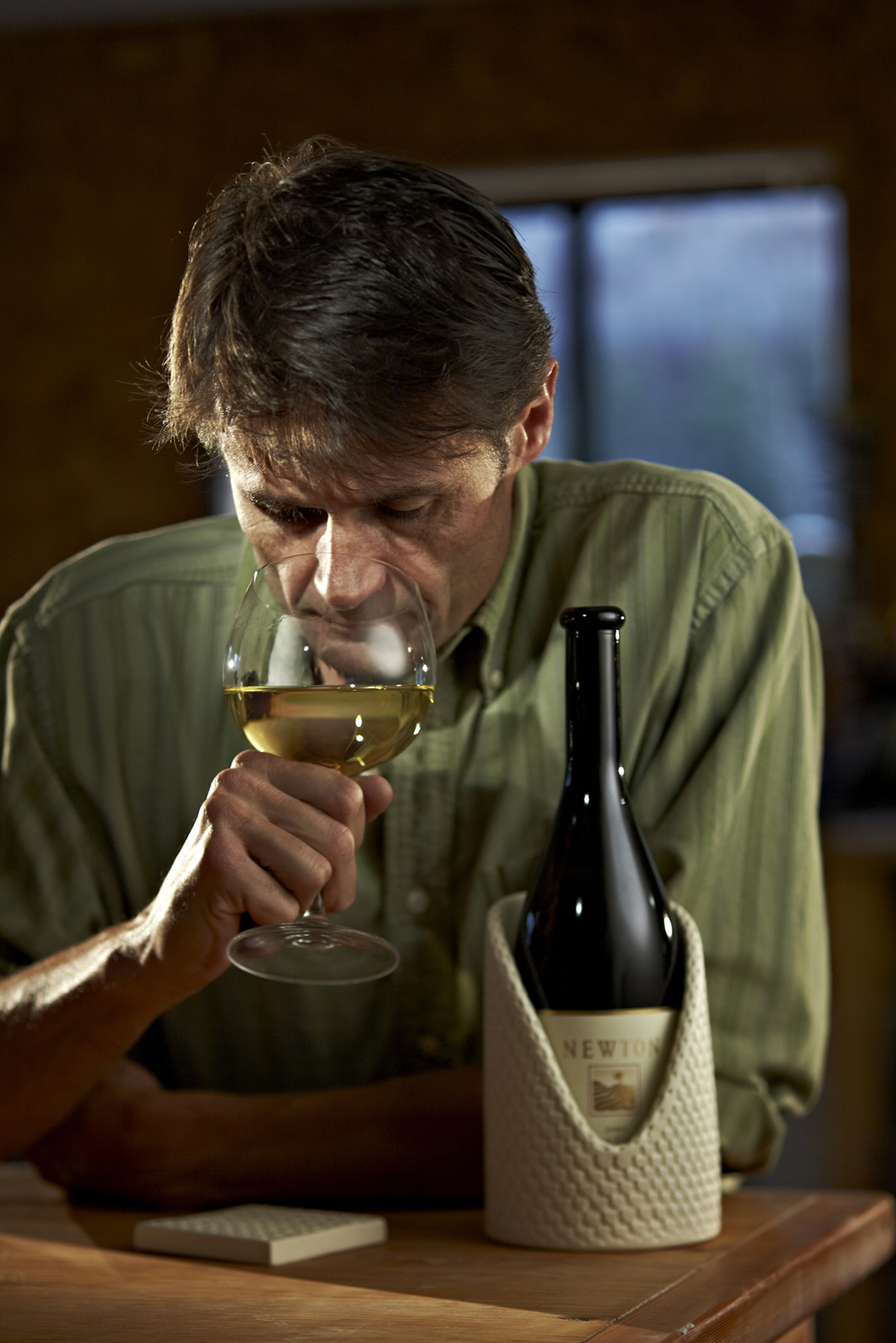 """When chilled to 55 degrees Fahrenheit, Wisner said, the taste of Newton Vineyard's Chardonnay """"explodes in your mouth."""""""