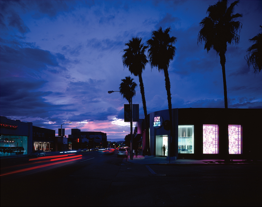 Every store—–even for the same brand—–requires a unique approach. The Los Angeles Bape store has been designed to be spotted from the car.