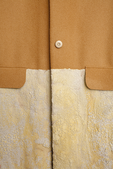 Up close, the concrete takes on the look of weathered leather. Photo by Jordan Duvall.