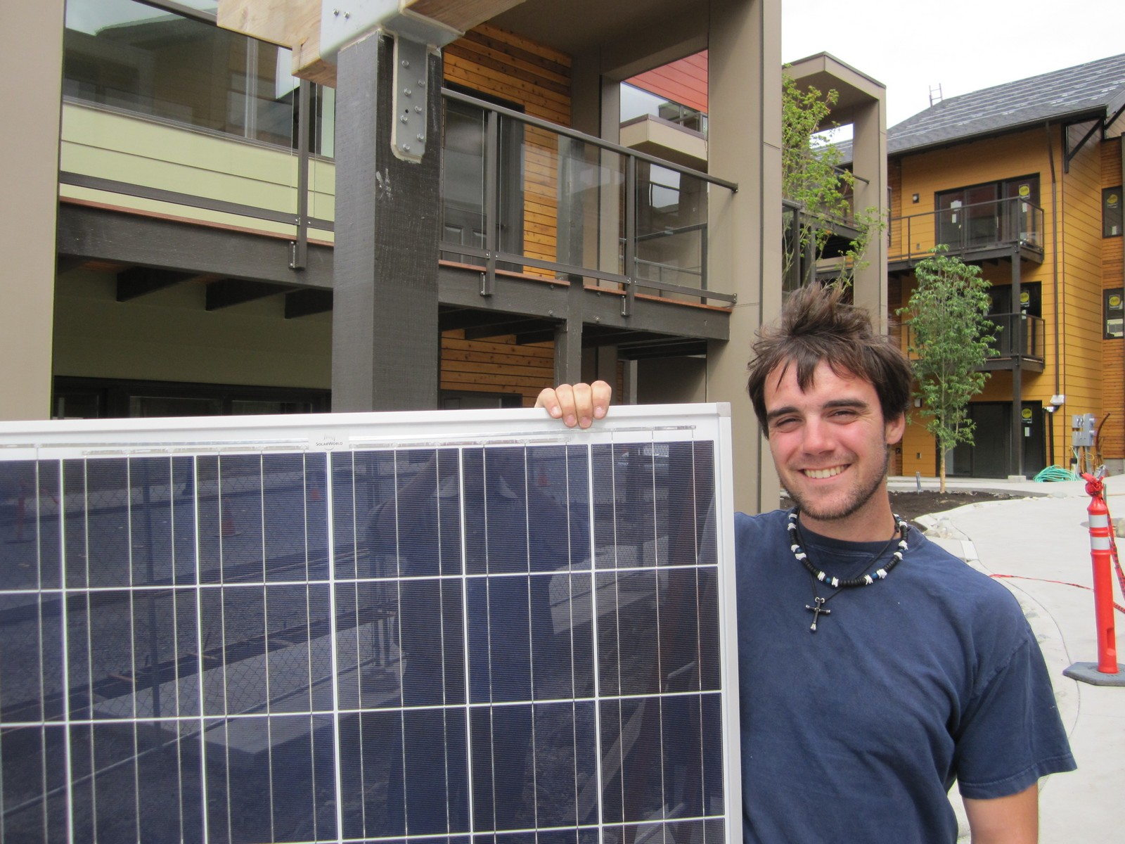 Each home includes a solar photovoltaic panel array adequate to offset the home's annual energy use.