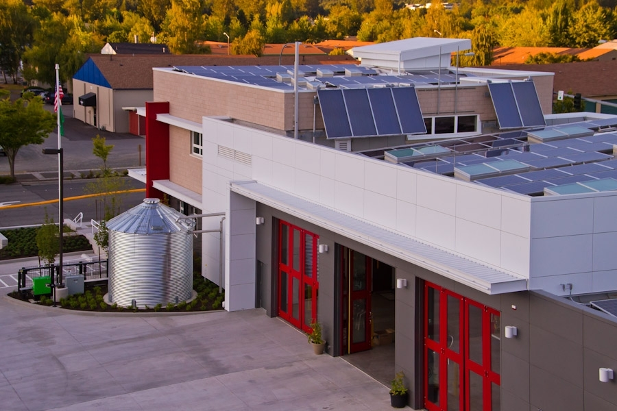 zHome has influenced a number of other projects. Fire Station 72, built by the City of Issaquah, reduces energy use to about 1/3 of that used by the typical fire station. It shares a number of zHome technologies, including ground source heat pumps, heat r