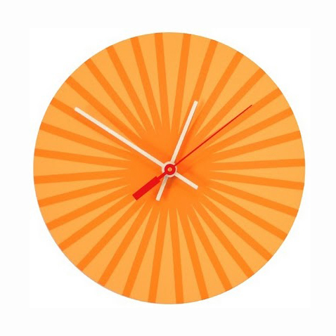 Orange Burst clock chroma lab
