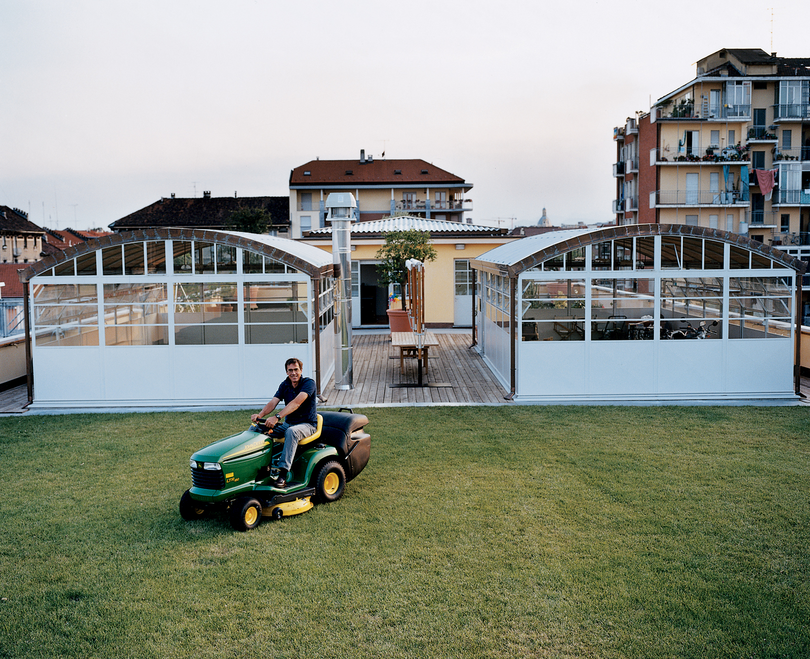 Along with his wife, Stella, daughter, two sons, and nanny, Marco Boglione lives large in a split-level 8,600-square-foot open space that includes his entire business operation (factory, office and retail) and a rooftop garden.