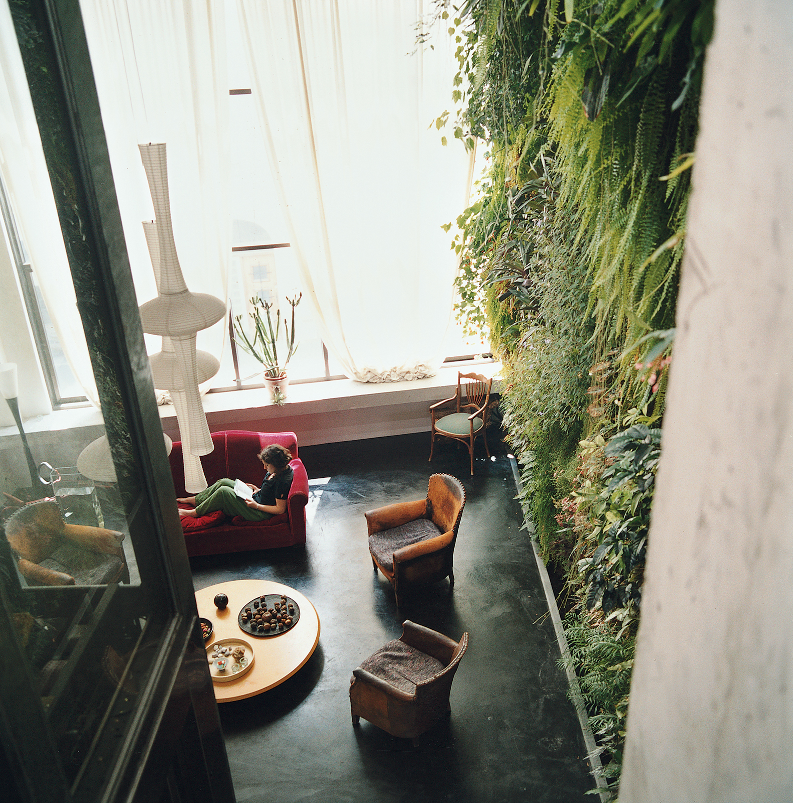 indoor gardens paris france blanc patrick dimanche house wall aerial