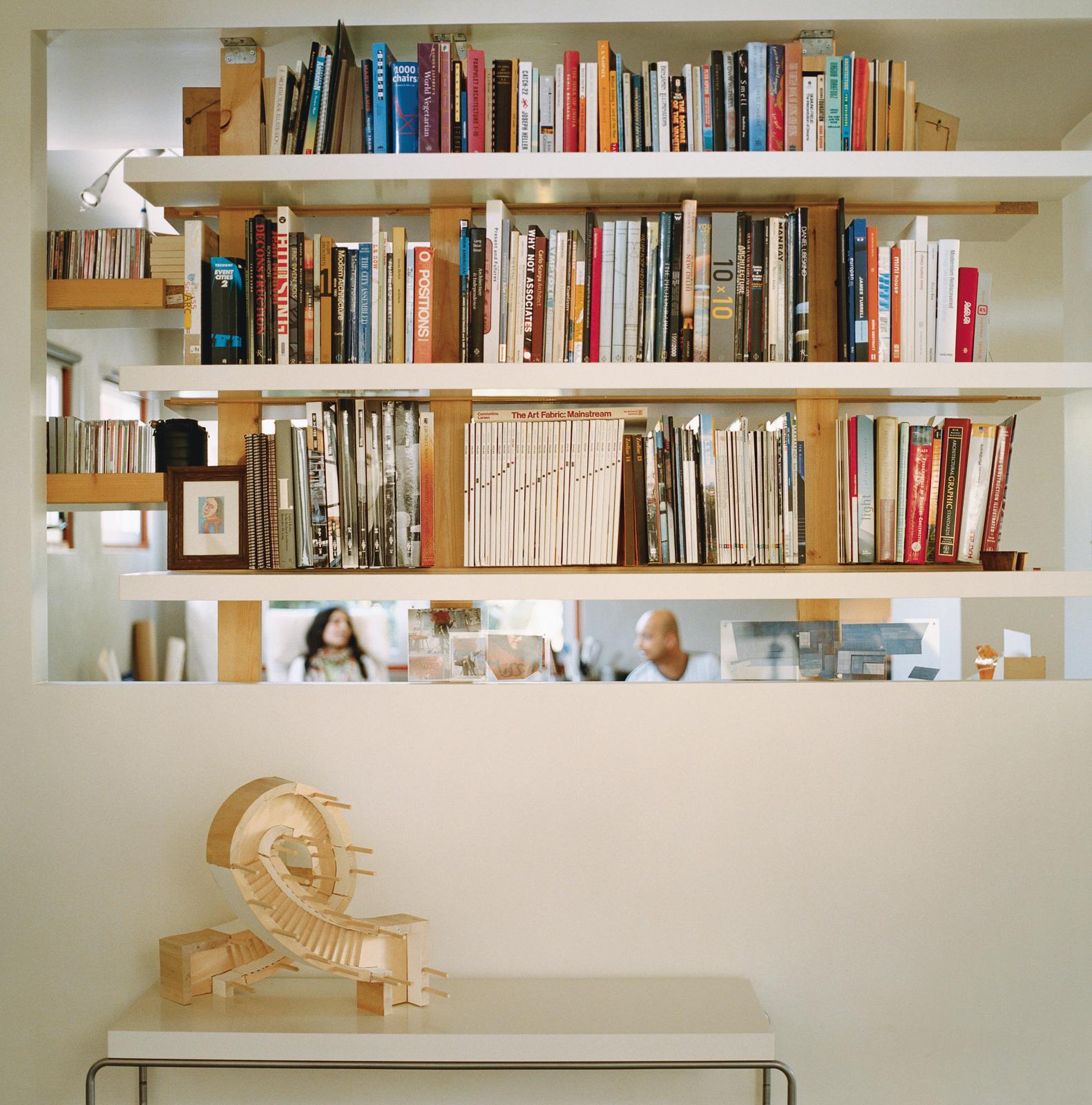 pande misra house bookshelf sculpture