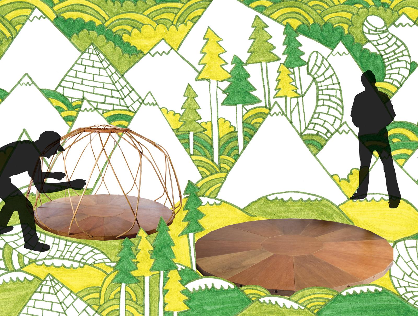 the nomad yurt frame green