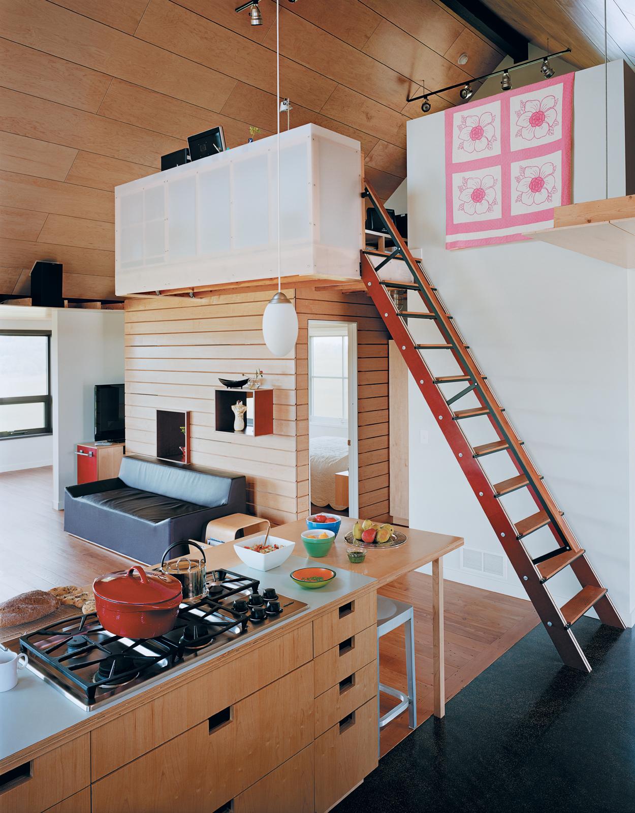 yum yum farm house kitchen storage space ladder