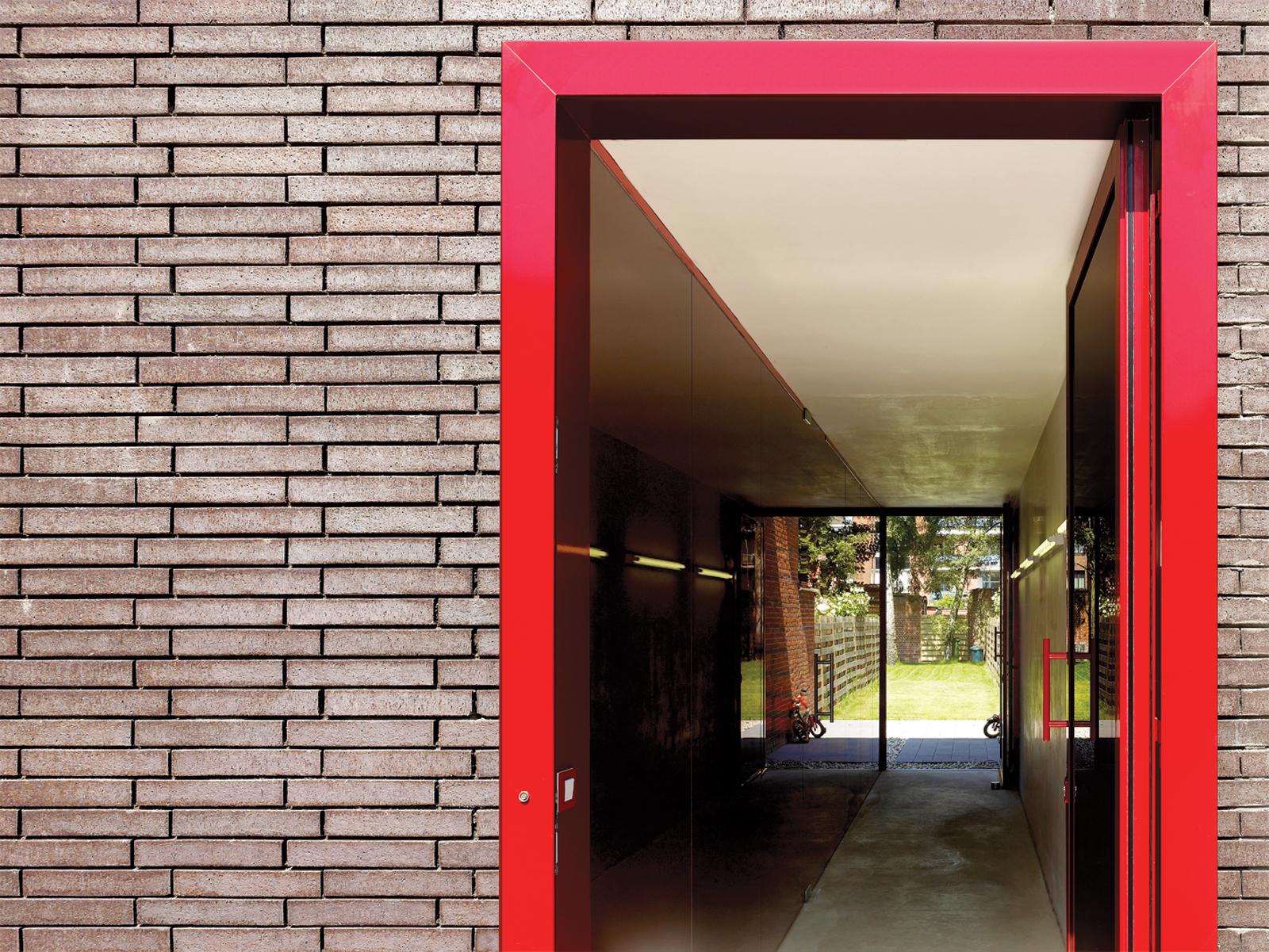 Red door House BVA in Belgium by DMVA Architects