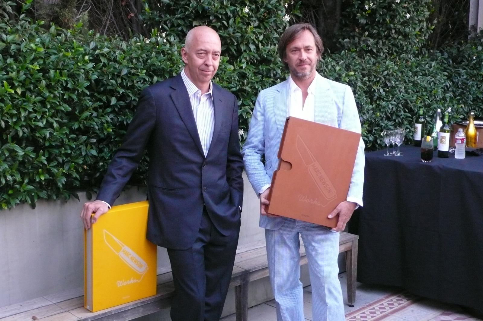 Benedikt Taschen and Marc Newson